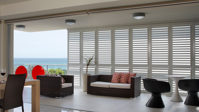 Sliding Security Shutters : Security plantation shutters